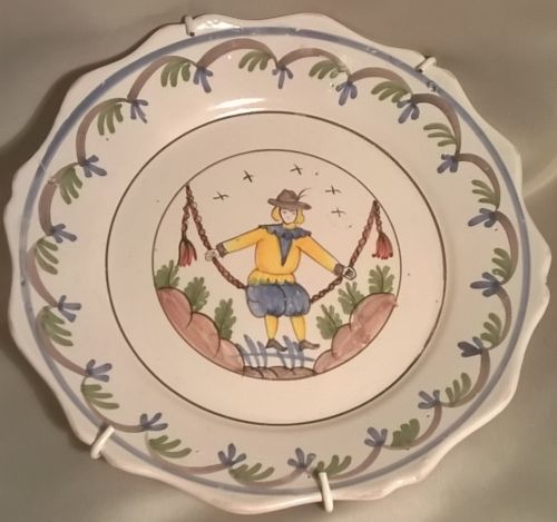 18th century Nevers faience polychrome plate