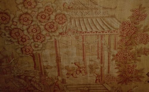 antique chinoiserie fabric